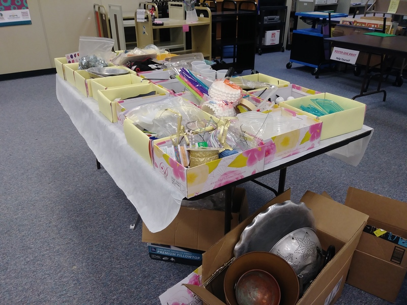 image of donated supplies from shops